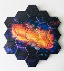 Artwork inspired by the James Webb telescope