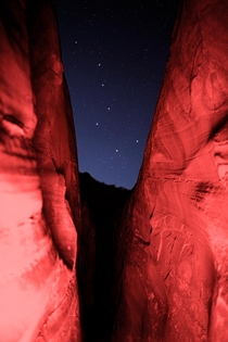 As I was hiking out of Spooky Canyon I glanced up to find The Big Dipper perfectly framed