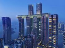 As part of the new Raffles City Chongqing complex The Crystal by Safdie Architects is described as a horizontal skyscraper and connected to other skyscrapers via sky bridges