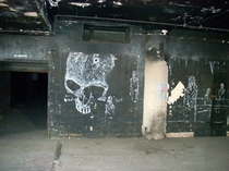 As requested a higher res image of the skull graffiti in the TampP Warehouse