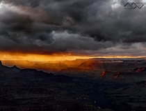 As the storm approaches the sun sets Grand Canyon Arizona