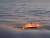 Asiago plateau Italy shrouded in a thick fog Photo by Vittorio Poli