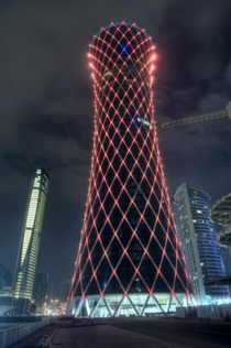 Aspire Tornado Tower of Doha Qatar It was built in  at a Height of