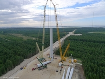 Assembly of Siemens SWT-- wind turbine  sterild Testcenter Denmark
