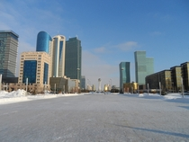 Astana Kazakhstan in the bitterly cold winter