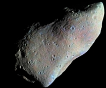 Asteroid  Gaspra a km-wide asteroid that rotates once every six hours Because of its irregular shape gravity is very uneven across the surface Captured by the Galileo spacecraft during its flyby in