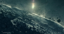 Asteroid surface simulation render  created for the  documentary Asteroids