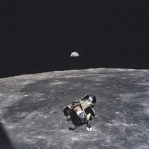Astronaut Michael Collins Took this photo in  It is said that Michael is the only person dead or alive to not in the frame of this picture
