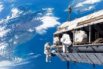 Astronauts wBalls of Steel Working on the International Space Station