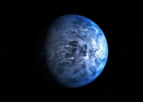 Astronomers for the first time have determined the true color of a planet orbiting another star This planet known as HD b would be a deep azure blue reminiscent of Earth