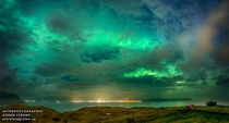 Astrophotographic image of the Faroe Islands during the solar eclipse  By Gran Strand