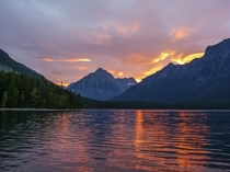 At a lake in western Montana I camped on the beach and crawled out of my tent to see this