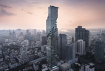 At  ft with  floors Mahanakhon Tower is the second tallest in Thailand The building is topped with an observation deck that offers -degree views across the city