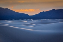 At sunset the white sands take on color and you feel like youre on a different planet - White Sands National Monument New Mexico USA