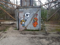 At the base of the Duga radar near Chernobyl Ukraine OC