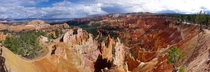 At the ridge of the immense Bryce Canyon Utah  larger in comments