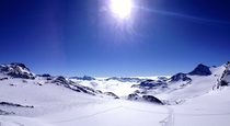 At the top of the Col chairlift Val Thorens France
