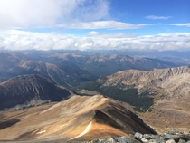 At the top of Torreys peak in Colorado