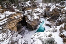 Athabasca Falls AB CA in the winter was such a delight to see