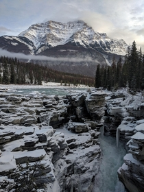 Athabasca Falls at Jasper National Park Canada