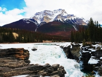 Athabasca Falls Jasper National Park short stop on our trip through the icefields parkway x