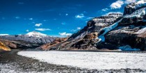 Athabasca Glacier after a  hour hike Alberta Canada
