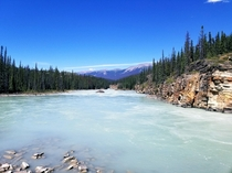 Athabasca River and Antler Mountain Jasper National Park Alberta