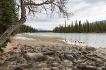 Athabasca River in Jasper national park AB