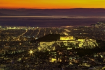 Athens at twilight