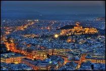 Athens Greece - by night