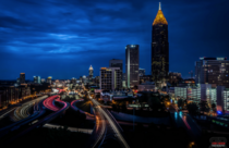 Atlanta in the blue