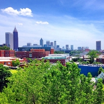 Atlanta skyline from Georgia Tech