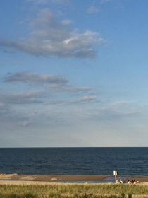 Atlantic Ocean from my balcony in Delaware