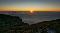 Atlantic sundown from Table Mountain Cape Town South Africa