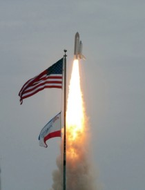 Atlantis Launches from Kennedy Space Center on July th  Bringing an End to the  Year Space Shuttle Program Hail Atlantis