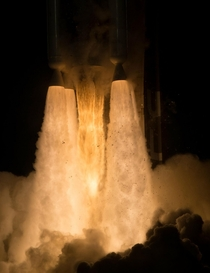 Atlas V launch of the Mars Perseverance Rover RD- main engine with  solid fuel boosters