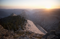 Atop Clouds Rest Yosemite National Park Half Dome in the middle ground