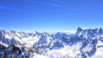 Atop the French Alps - Aiguille du Midi above Chamonix Fr  x