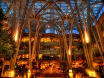 Atrium of Brookfield Place in Toronto Canada