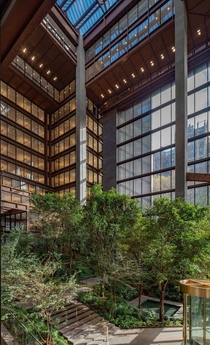 Atrium of NYCs Ford Foundation Building  designed by Kevin Roche