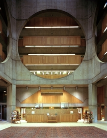 Atrium of the Phillips Exeter Academy -- the largest secondary school library in the world