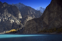 Attabad Lake And Karakoram Mountains Gilgit Baltistan Pakistan  By ssSUH