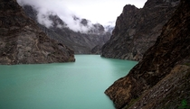 Attabad Lake formed after a landslide in  Gojal Valley Northern Pakistan