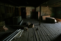 Attic of an abandoned Aviagen building in Connecticut