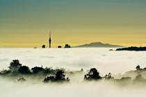 Auckland City in fog