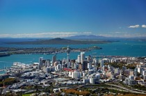 Auckland New Zealand and Rangitoto Island