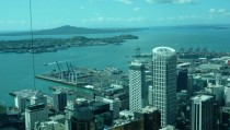 Auckland New Zealand as seen from the Sky Tower