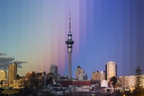 Auckland New Zealand Sunset Timescape
