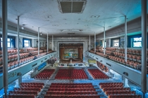 Auditorium of an abandoned school in the US