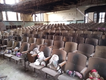 Auditorium of an abandoned school NY